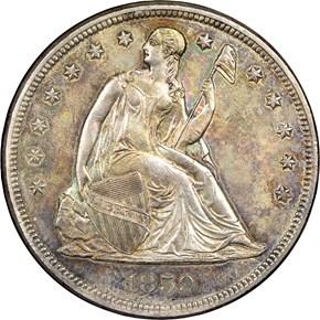 1859 $1 MS obverse