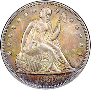 1860 $1 MS obverse