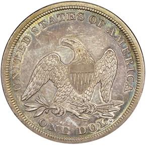 1860 S$1 MS reverse