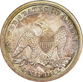 1860 $1 MS reverse