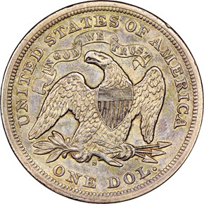 1872 S $1 MS reverse