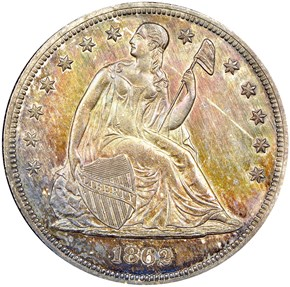 1862 $1 MS obverse