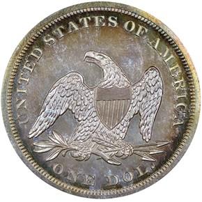 1864 S$1 PF reverse