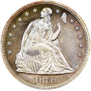 1871 $1 PF obverse