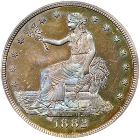 1882 T$1 PF obverse