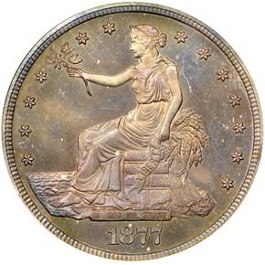 1877 T$1 PF obverse