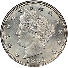 1883 CENTS 5C MS obverse