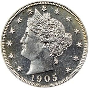 1905 5C PF obverse