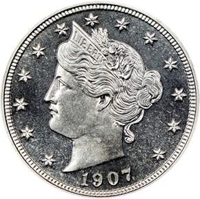 1907 5C PF obverse