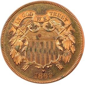 1869 2C PF obverse