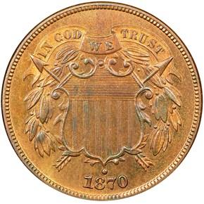 1870 2C PF obverse