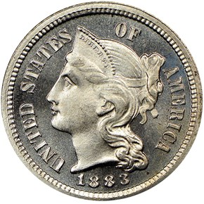 1883 3CN PF obverse