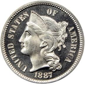 1887/6 3CN PF obverse