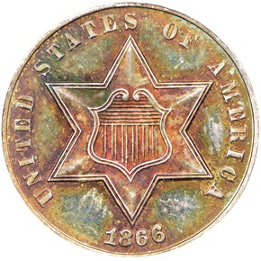 1866 3CS PF obverse