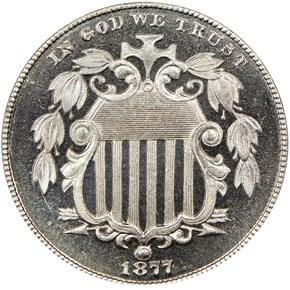 1877 5C PF obverse