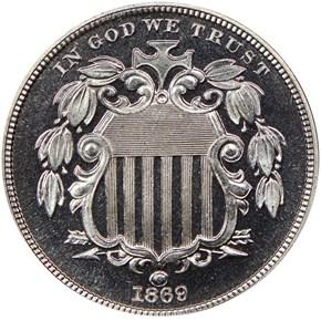 1869 5C PF obverse
