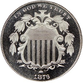 1876 5C PF obverse