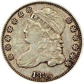 1832 10C MS obverse