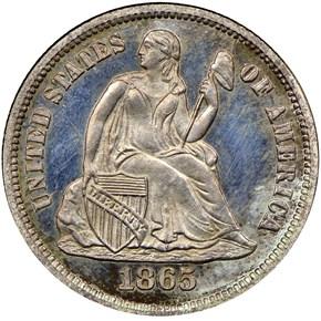 1865 10C PF obverse