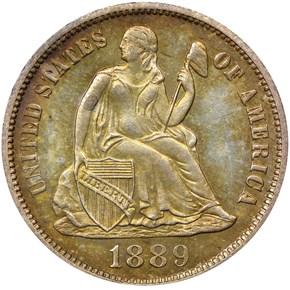 1889 10C PF obverse