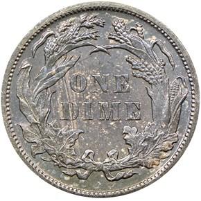 1889 10C PF reverse