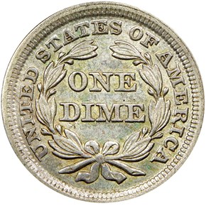 1854 ARROWS 10C MS reverse