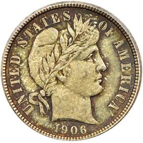 1906 10C MS obverse