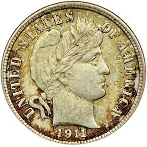 1911 10C MS obverse