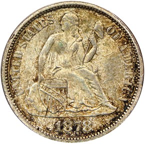 1878 10C MS obverse