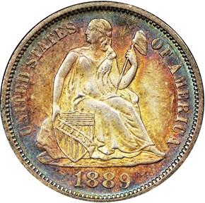 1889 10C MS obverse