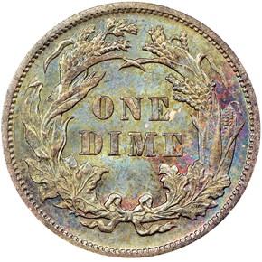 1889 10C MS reverse