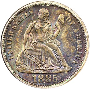 1885 10C MS obverse