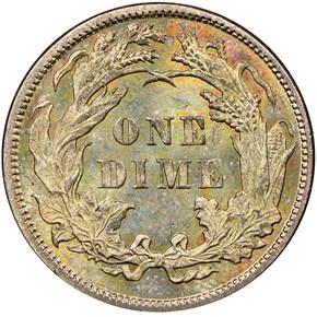 1885 10C MS reverse
