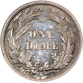 1895 10C PF reverse