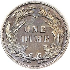 1905 10C PF reverse