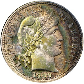 1909 10C PF obverse