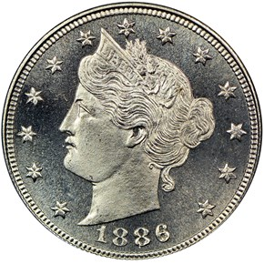 1886 5C PF obverse