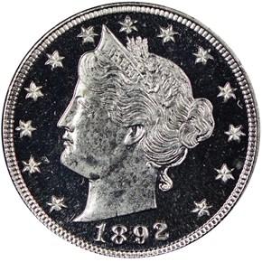 1892 5C PF obverse