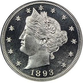 1893 5C PF obverse