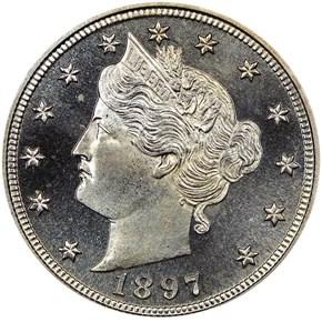1897 5C PF obverse