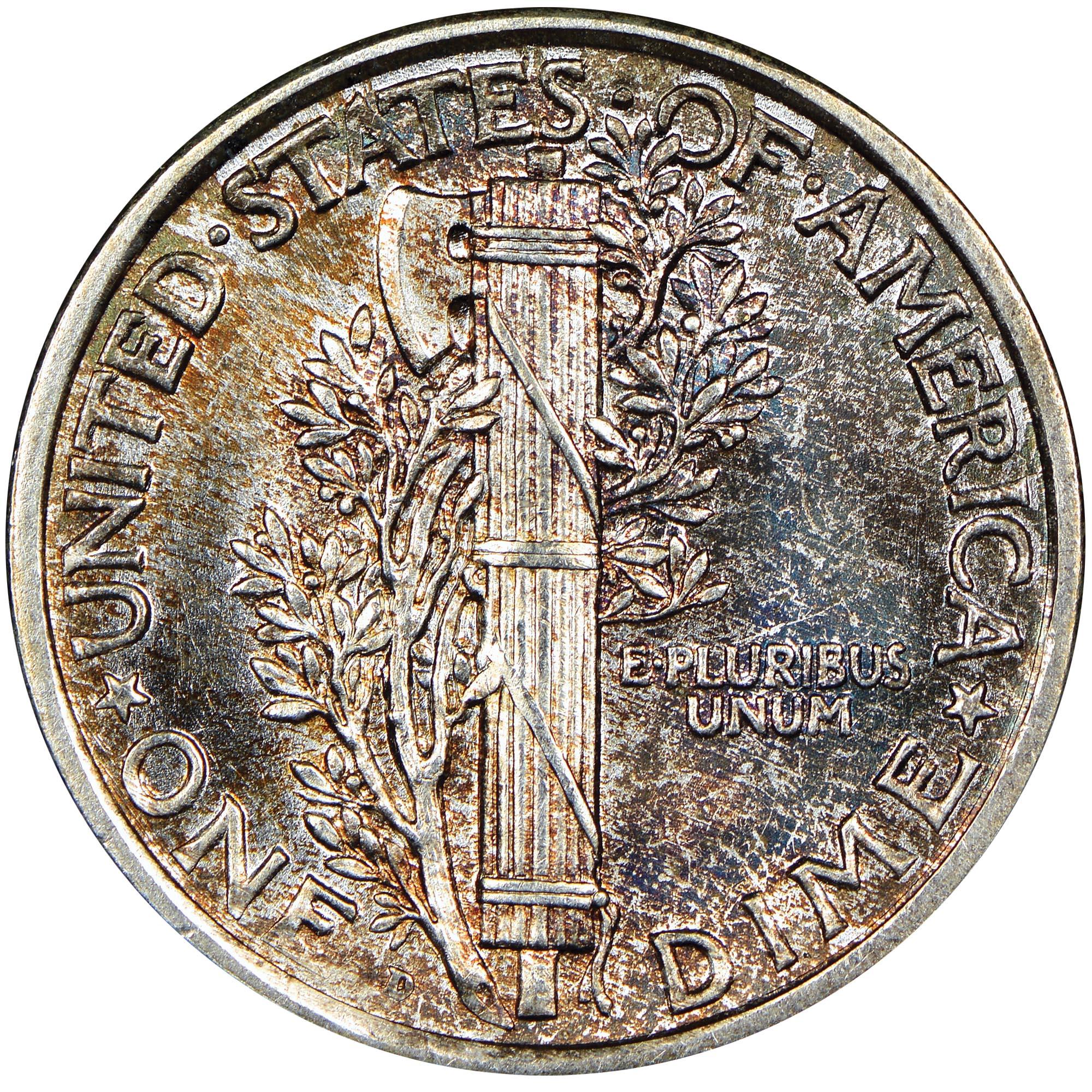 1921-D Mercury Dime VG