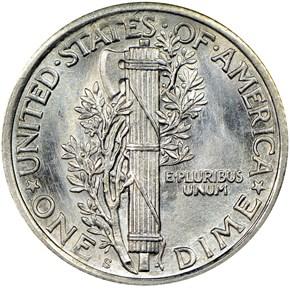 1923 S 10C MS reverse
