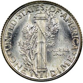 1926 S 10C MS reverse
