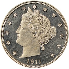 1911 5C PF obverse