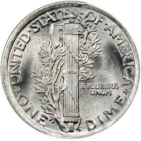1919 10C MS reverse