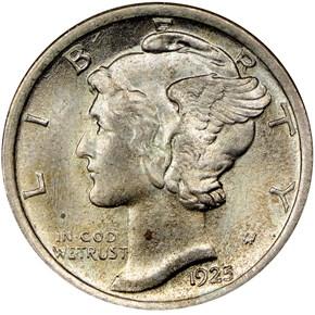 1925 10C MS obverse