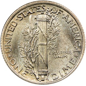 1925 10C MS reverse