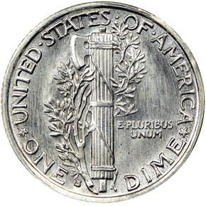 1929 S 10C MS reverse