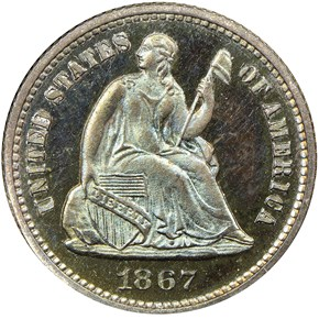 1867 H10C PF obverse