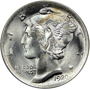 1920 10C MS obverse